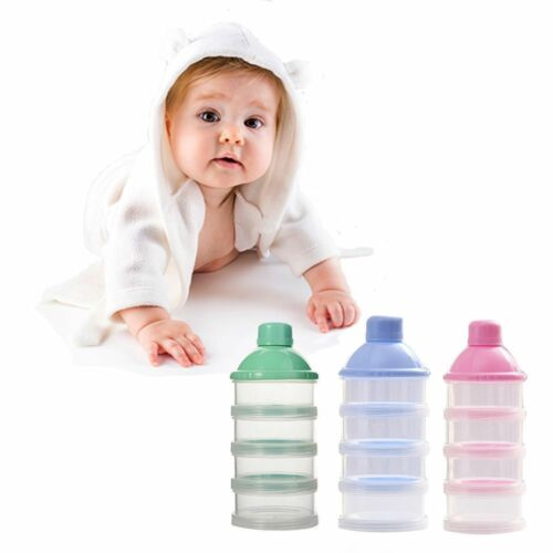 3/&4 Layer Baby Bottle Feeding Milk Powder Bottle Container Food Feeding Powder