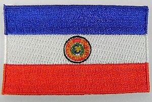 Paraguay-Aufnaeher-gestickt-Flagge-Fahne-Patch-Aufbuegler-6-5cm-neu