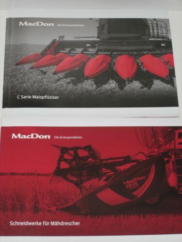 C serie Cornhuskers folletos MacDon cosechadoras schneidwerke 347