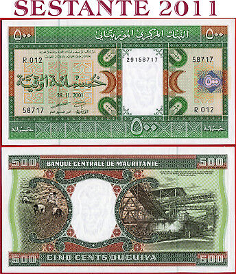 (com) Mauritania - 500 Ouguiya 28.11. 2001 - P 8b - Unc Perfect Sturdy Construction