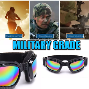 Mens Safety Goggles with Foam Padding Biker Motorcycle Neon Tinted FREE SHIP