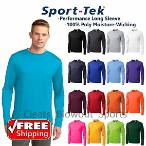 Mens Sport-Tek Long Sleeve Dry Fit Performance Moisture Wicking T-Shirt ST350LS