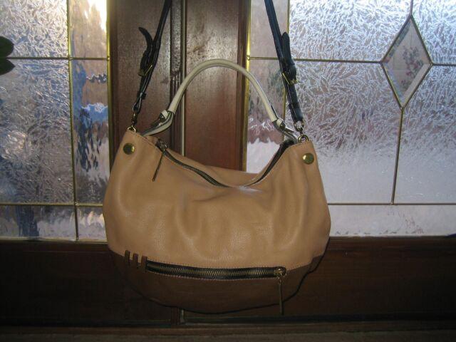 04458e10a0f0 orYANY Italian Pebbled Leather Large OLIVIA Hobo Shoulder Bag Colorblock