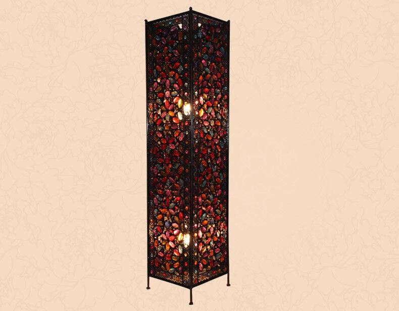 D39 European Retro Rural E14 Height 120CM Metal+Acrylic Living Room Floor Lamp
