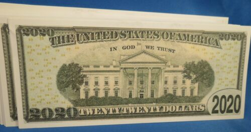 WHOLESALE LOT OF 100 DONALD TRUMP 2020 NOVELTY MONEY PRESIDENT SUIT TIE PIC USA