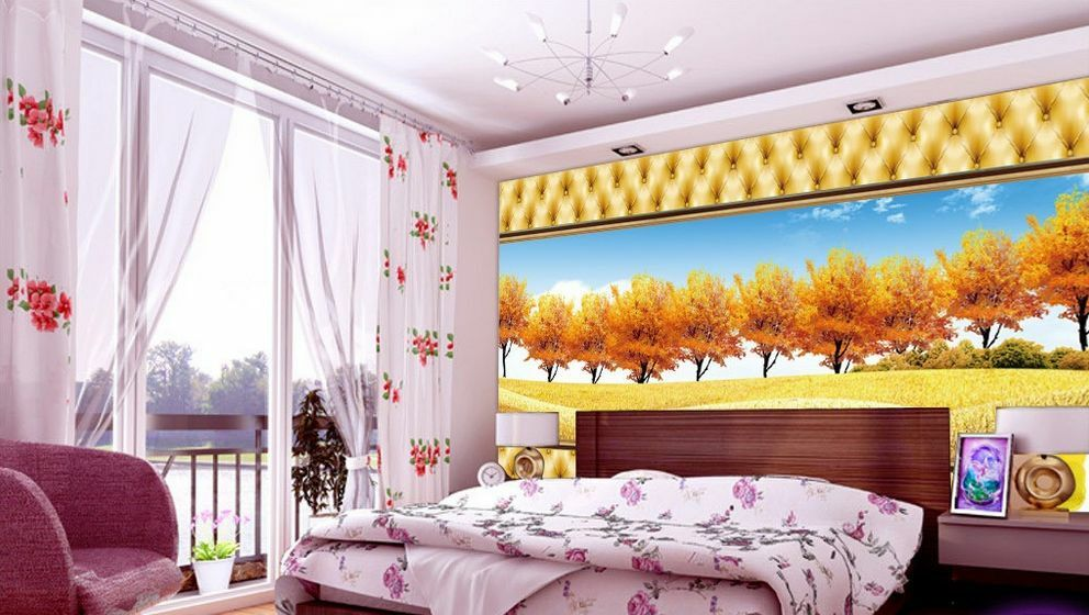 3D golden prairie 5 Wall Paper Murals Wall Print Decal Wall Deco AJ WALLPAPER