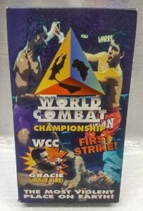 1995-World-Combat-Championship-First-Strike-WCC-Gracie-Under-Fire-VHS-Video-Tape