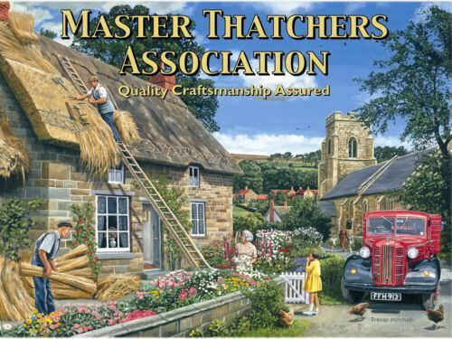 Thatched Cottage Medium Metal//Steel Wall Sign Master Thatcher/'s Association