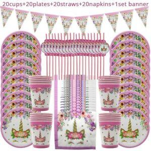 81pcs-Unicorn-Party-Set-Supplies-Kids-Happy-Birthday-Wedding-Decorations-Girl-039-S