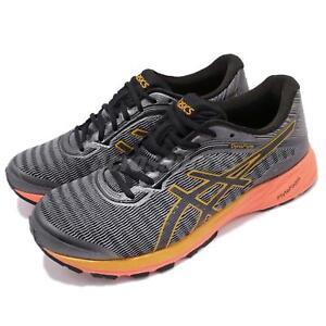 Asics-DynaFlyte-Carbon-Grey-Orange-Mens-Running-Shoes-Runner-Trainers-T6F3Y-9790