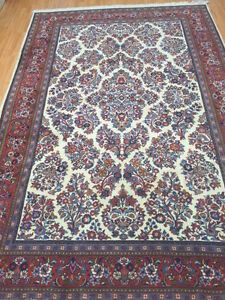 """6'5"""" x 9'8"""" New Traditional Turkish Floral Oriental Rug - Hand Made - 100% Wool"""