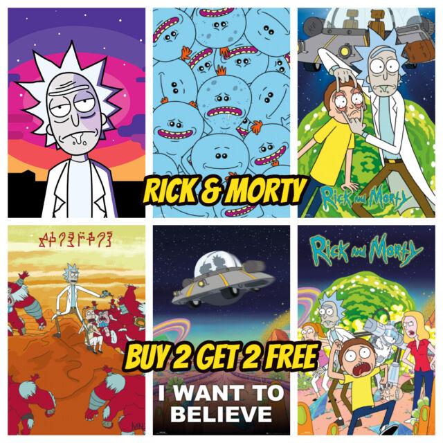 Rick & Morty POSTER-LUCIDA HQ a 4 per il prezzo di 2-Camera Da Letto Wall Decor