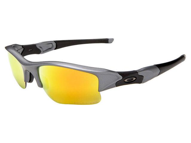 a1155f9327fb Oakley Flak Jacket XLJ Polarized Sunglasses OO9009-19 Dark Grey/Fire Iridium
