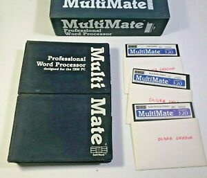 1983-MultiMate-Pro-Word-Processing-for-IBM-PC-3-20-Manual-3-floppy-disks