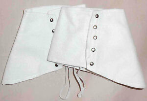 White-Poly-Felt-Costume-Shoe-Spats-Victorian-Steampunk-1930s-Style-Unisex