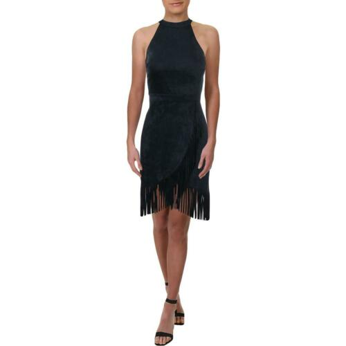 Aqua Femme frange daim Halter robe de cocktail BHFO 5488