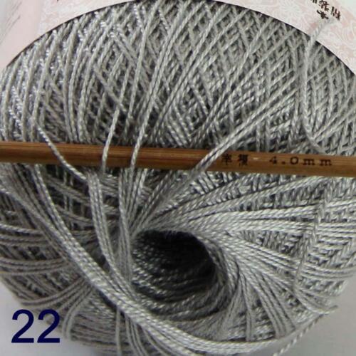 Thread No.8 Cotton Crochet Hand Yarn Craft Tatting Knit Embroidery 50g//400y 22