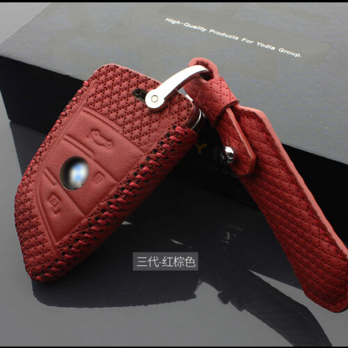 High Quality leather Smart Remote Key Case Cover Holder For BMW 1 Series 2017