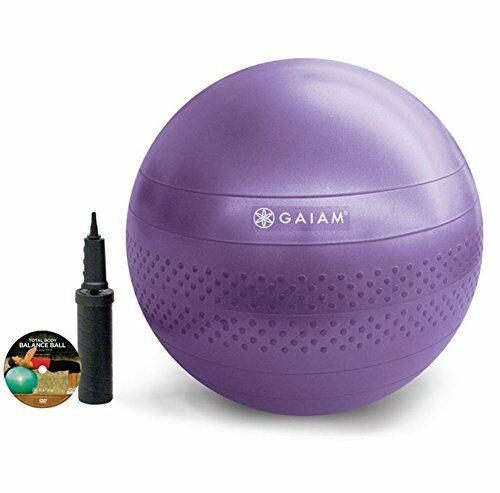 NEW Gaiam Total Body Balance Ball Kit 55cm FREE SHIPPING