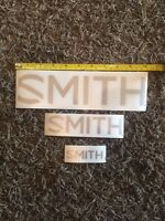 3 Smith Optics Silver Stickers Large Aprox 10.5 Med Aprox 6.5 Small Aprox 3