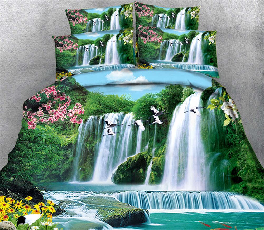 Never-ending Water 3D Printing Duvet Quilt Doona Covers Pillow Case Bedding Sets