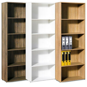 Bookcase-Shelving-Unit-Tall-Storage-Shelf-Display-Bookshelf-Colour-Choice