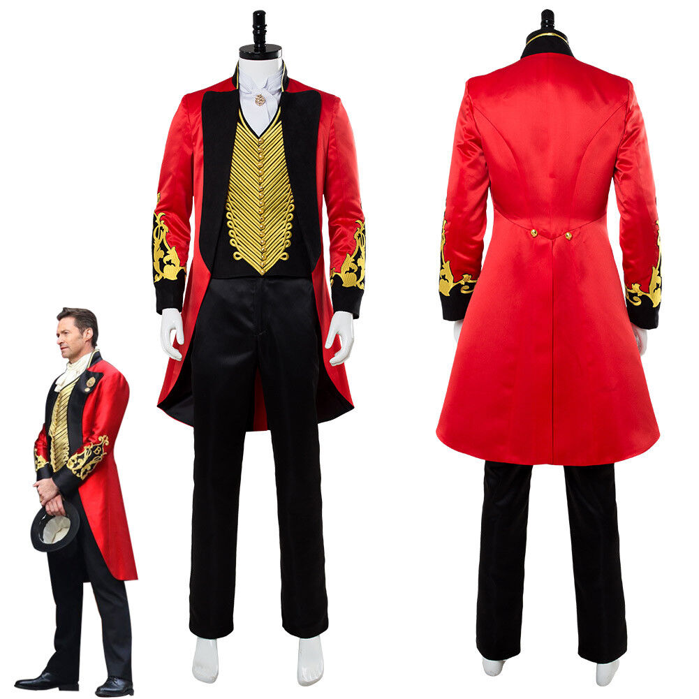 P.T. Barnum 2018 Movie The Greatest Showman Costume Cosplay Costume Showman Suit rosso Uniform 5000f6
