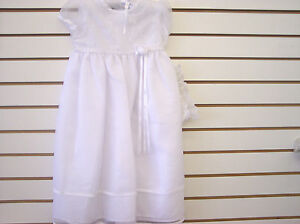 Infant Girls Christening//Dedication White Gown Sizes 0//3 Months