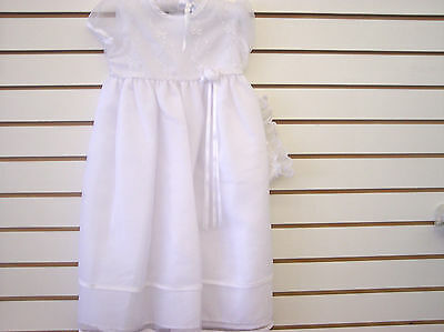 Infant Girl Satin Dedication Gown Sizes 0/3 Months - 18 Months Good For Energy And The Spleen