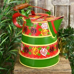 Small Red 1 Gallon Narrowboat Watering Can - Traditional Style