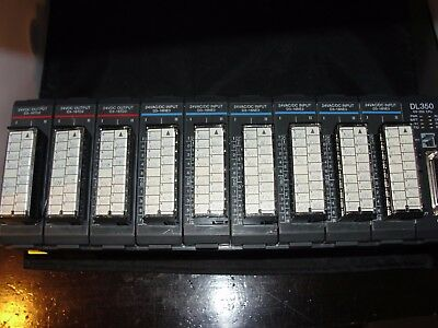 Koyo D3-10B-1 DL305 PLC 10-Slot Chassis Rack Base w//Power Supply /& I//O Cards