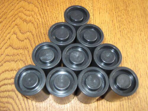 10 Envases Ollas de cine negro o recipientes de película de 35mm para el almacenamiento de Geocaching o
