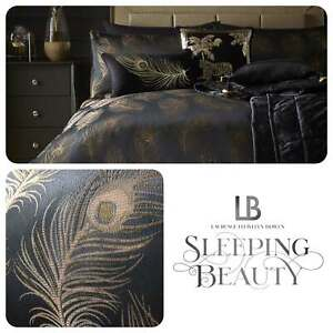 Laurence-Llewelyn-Bowen-DANDY-Luxury-Bedding-Duvet-Set-Black-Gold-Feather-Soft