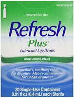 2 Pack - Refresh Plus Lubricant Eye Drops Single-use Containers 30 Each on sale