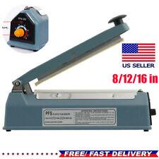 1216heat Sealer Manual Sealing Machine Shrink Wrap Poly Tubing Plastic Bag