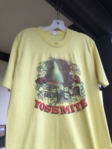 Vintage 70s Yosemite Nation Park T Shirt Size M Ye