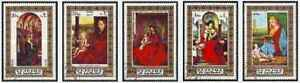 Timbres-Religion-Arts-Tableaux-Fujeira-962-6-o-Ref-Stampworld-lot-28856