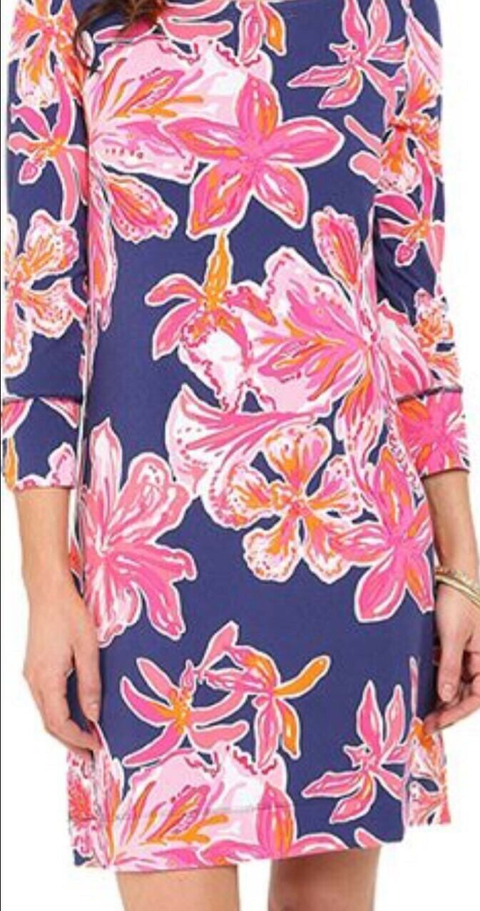 Lilly Pulitzer Sophie Dress UPF 50+ Bright Navy Via Sunny Size XXS New