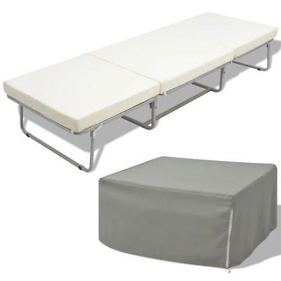 Letto sgabello pieghevole singolo con materasso in acciaio 200x70 cm u4z5 ebay - Letto pieghevole con materasso ...