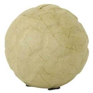 Decopatch Spardose Fußball 9,5 cm Rohling Pappmache Figur basteln Sparbüchse