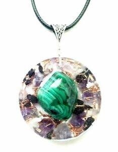 necklet-Orgonite-pendant-Malachite-Charoite-Shungite-EMF-protection-energy