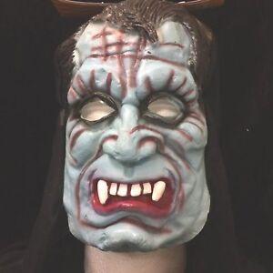 Vampire Team Devil BLUE DEMON HOODED MASK Cosplay Halloween Horror Costume LATEX