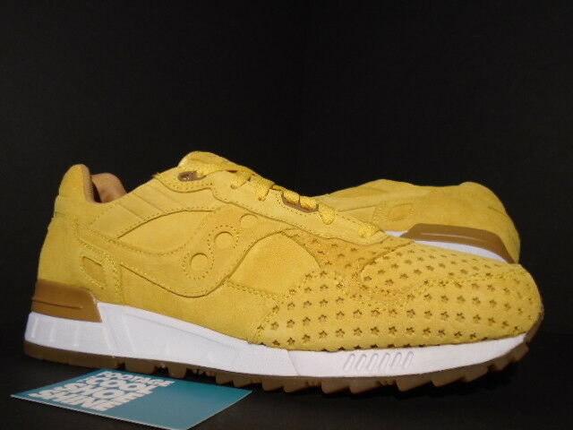 SAUCONY SHADOW 5000 PLAY CLOTHS MIMOSA MUSTARD YELLOW WHITE GUM 70119-1 NEW 10.5