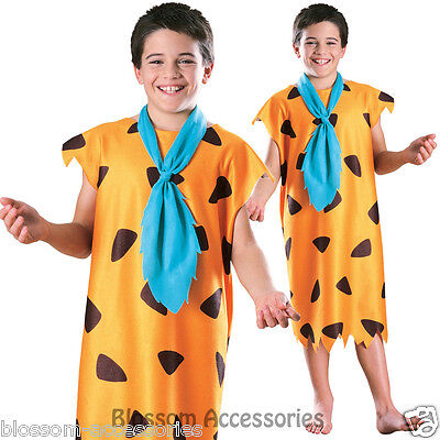 CK339 Flintstones Fred Flintstone Costume Boys Kids Outfit Fancy Dress Up Outfit