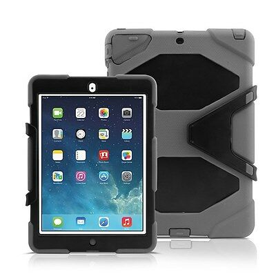 Heavy Duty Dual Shockproof Armor Case w/ Built-in Screen Protector For iPad Air