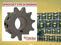 41b09h-1/2 Type B Finish Bore Sprocket For 41 Roller Chain 9 Tooth 41bs09h