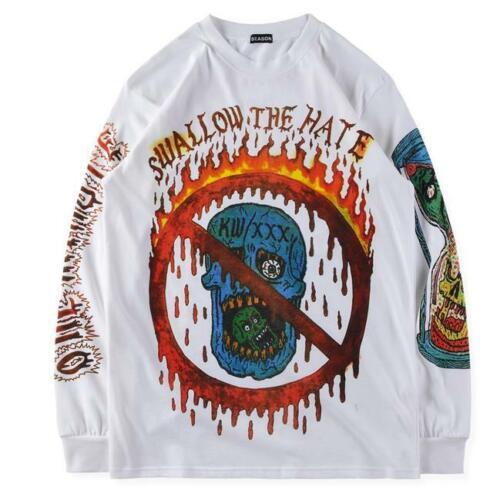 NEW SEASON 6 Kanye West Tee Yeezy1 XXXTENTACION T-Shirt Graffiti Shirt