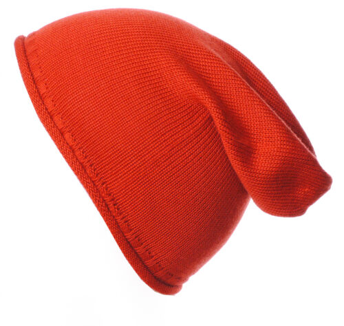 Mens Damas Llano 100/% Lana Merino Slouch Slouchy Beanie Sombrero Sombreros Cashmere corderos