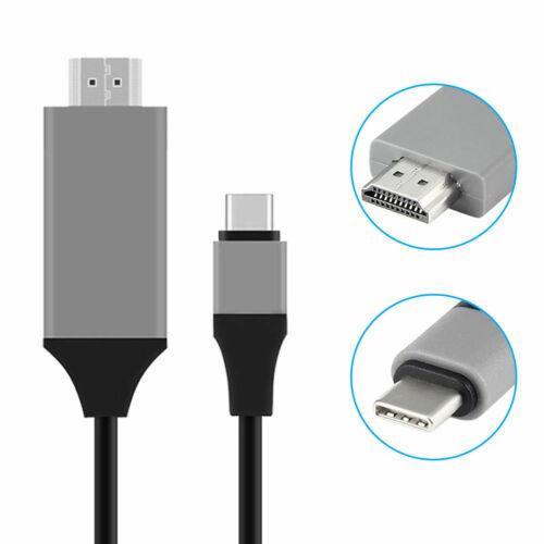 USB-C TIPO C A 4K HDTV con HDMI Cable Adaptador Para Samsung Galaxy S10e S10 Macbook