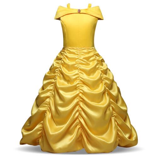 Size 2-9T Halloween Girls Beauty and the Beast  Princess Belle Wedding
